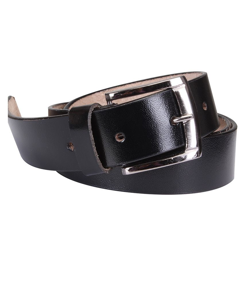 Klws Black Formal Belt For Men