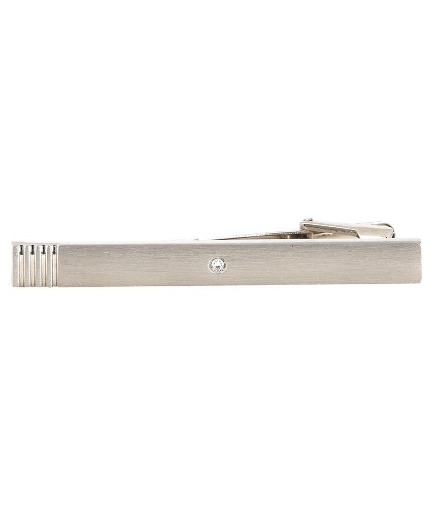 Peluche Silver Metal Metal Tie Bar