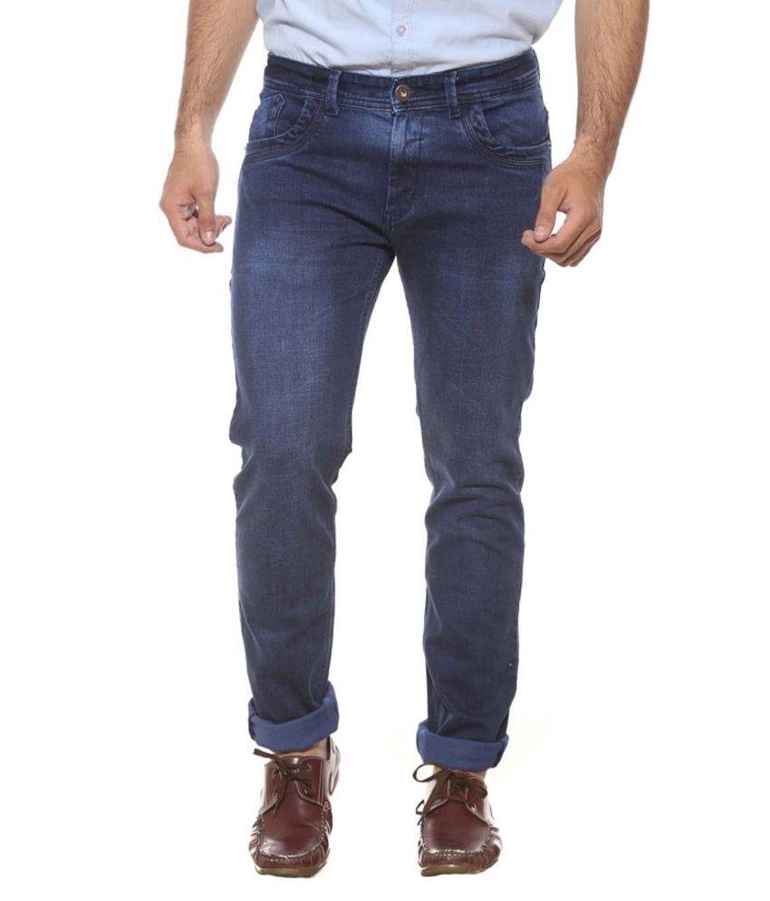 Semicollon Blue Slim Fit Jeans