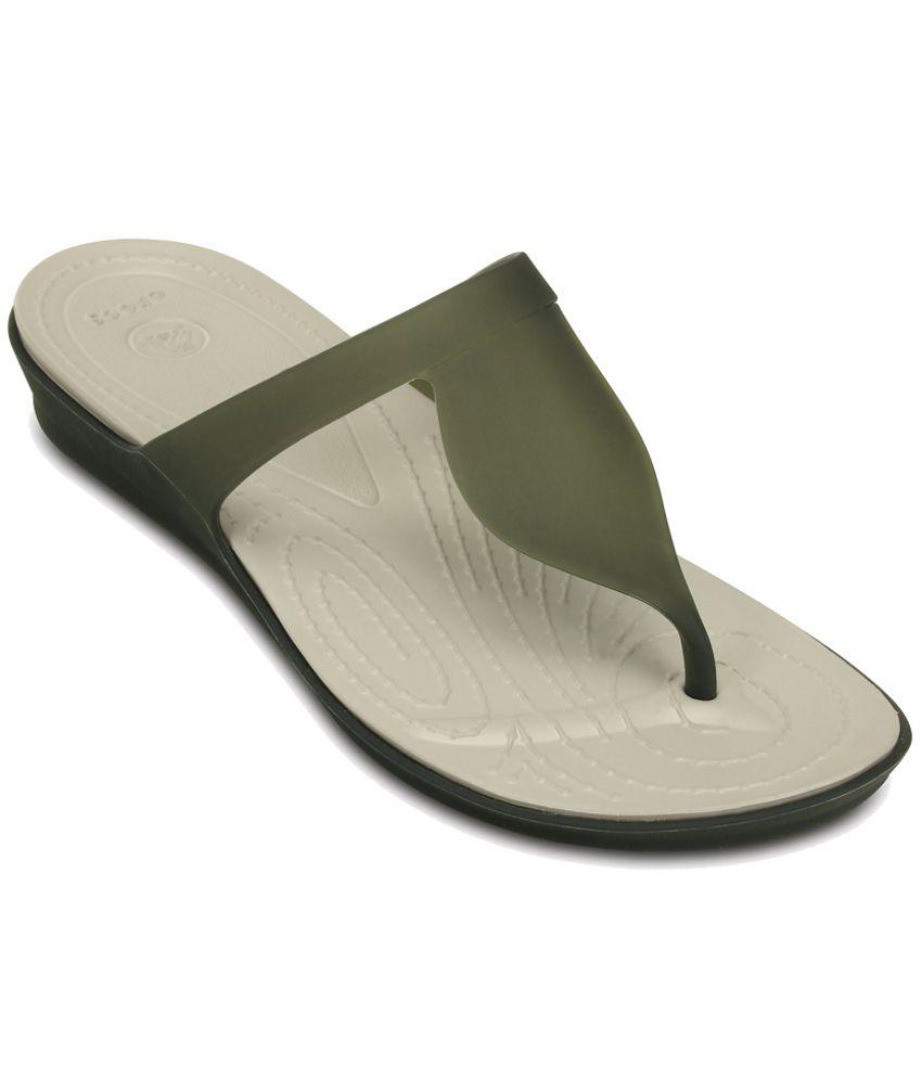Crocs Green Slippers & Flip Flops Standard Fit
