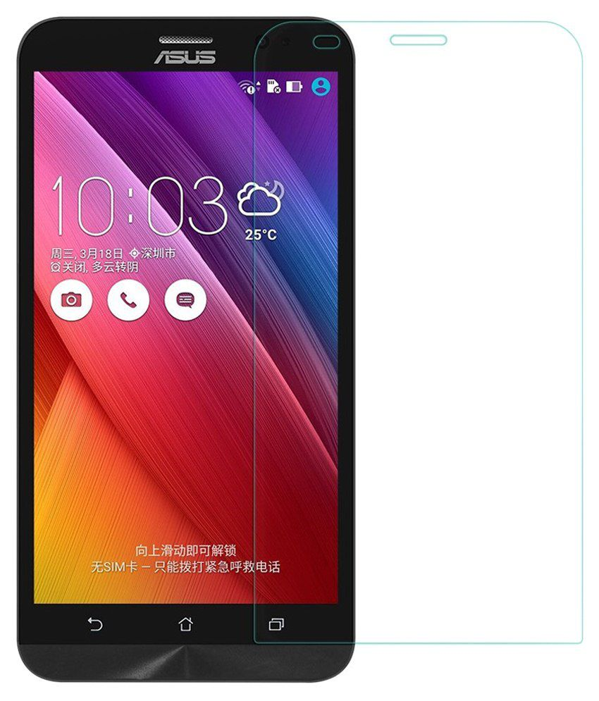 Asus Zenfone 2 Laser 6.0 ZE601KL Tempered Glass Screen Guard with Cleaning Cloth by Buynow
