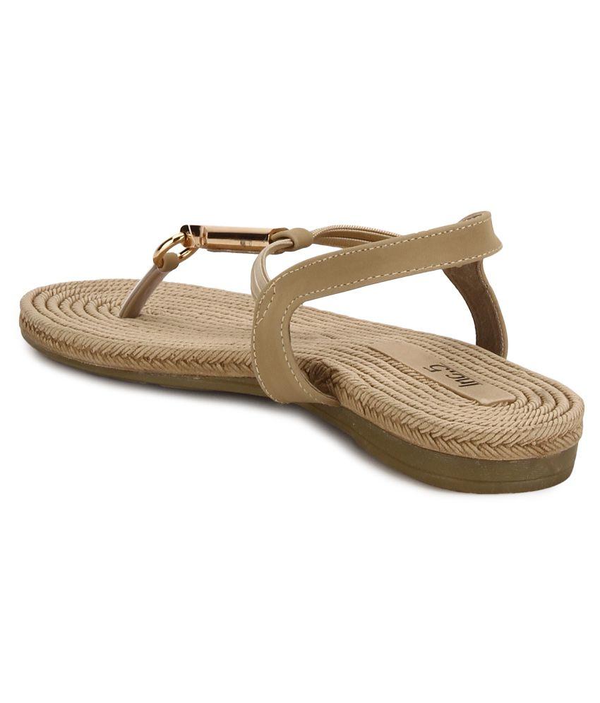 edc29ed0e7a Inc.5 Beige Flat Sandals Price in India- Buy Inc.5 Beige Flat ...
