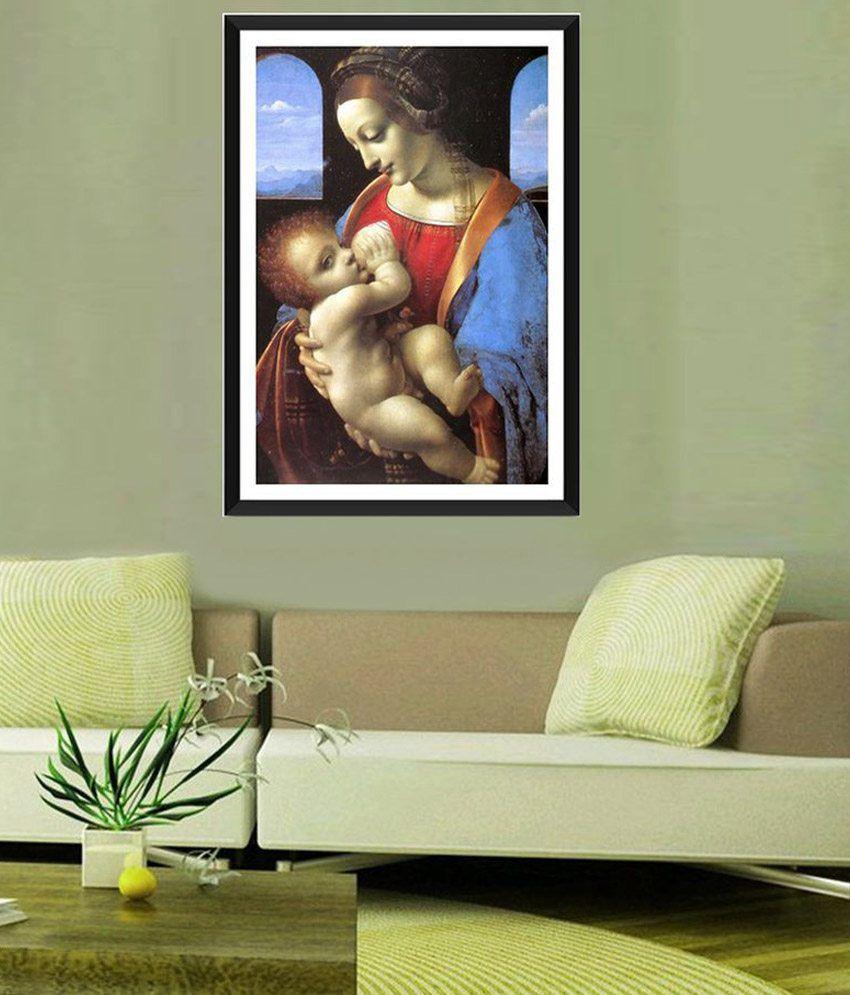 Tallenge Madonna Litta, Leonardo da Vinci By Leonardo da Vinci Framed Art Print