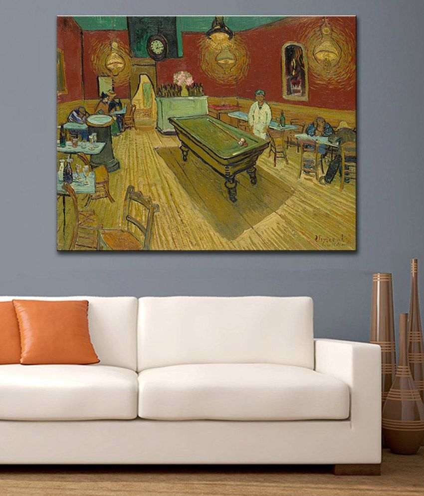 Tallenge Night Cafe By Vincent Van Gogh Rolled Canvas Art Print