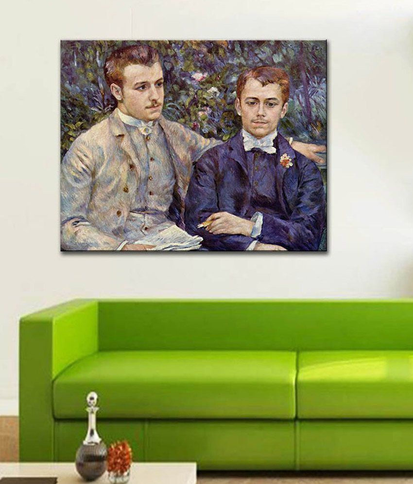 Tallenge Portrait of Charles and Georges DurandRuel By Renoir Rolled Canvas Art Print