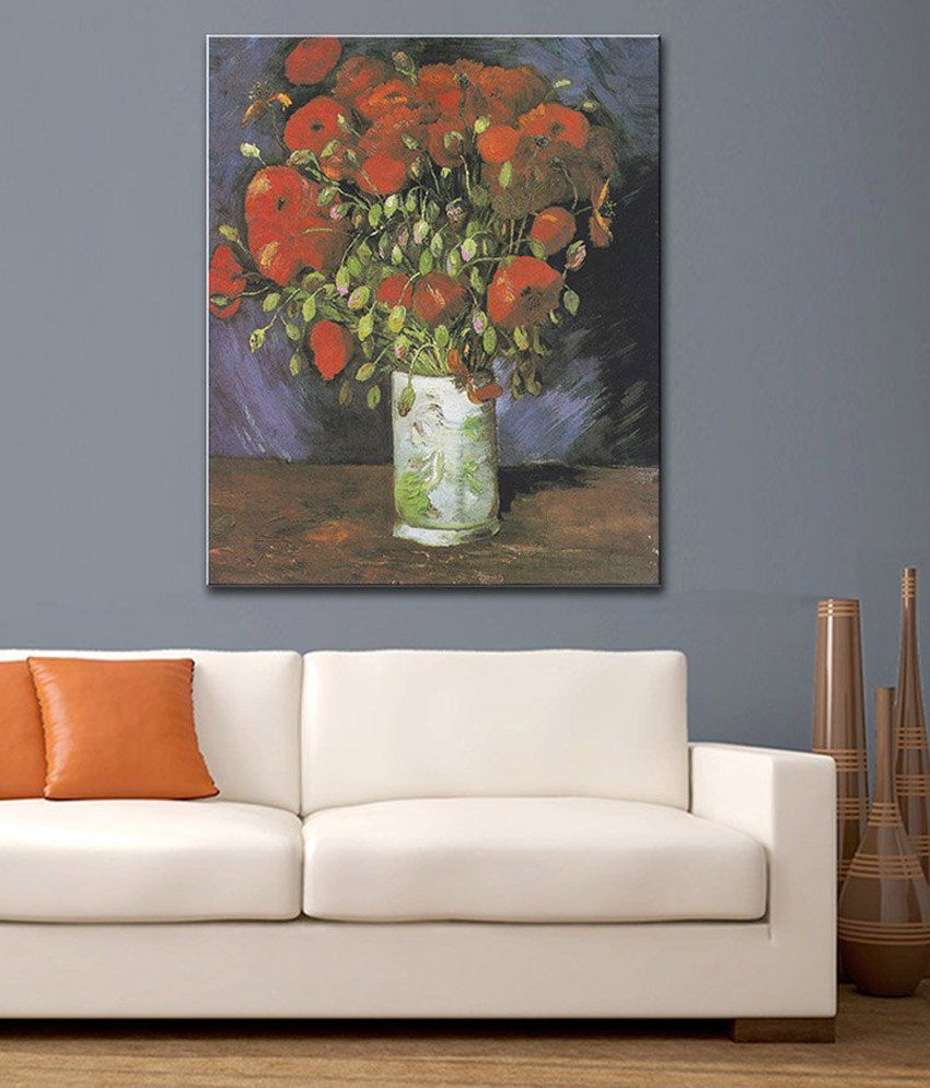 Tallenge Red Poppies By Vincent Van Gogh Rolled Canvas Art Print