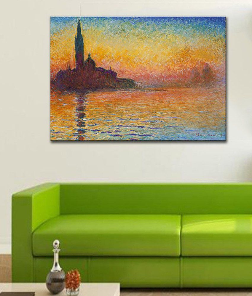 Tallenge Sunset In Venice By Claude Monet Gallery Wrap Canvas Art Print