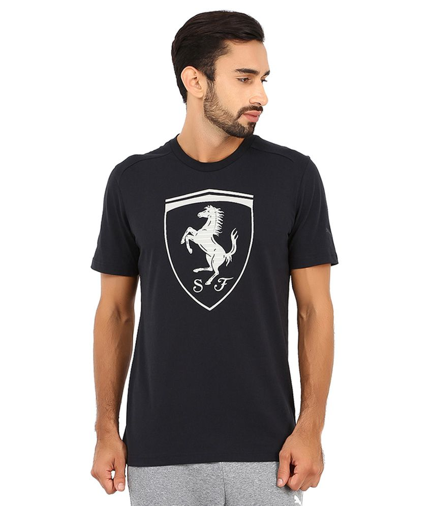 2e10b33f905 Puma Black Ferrari T Shirt - Buy Puma Black Ferrari T Shirt Online at Low  Price in India - Snapdeal