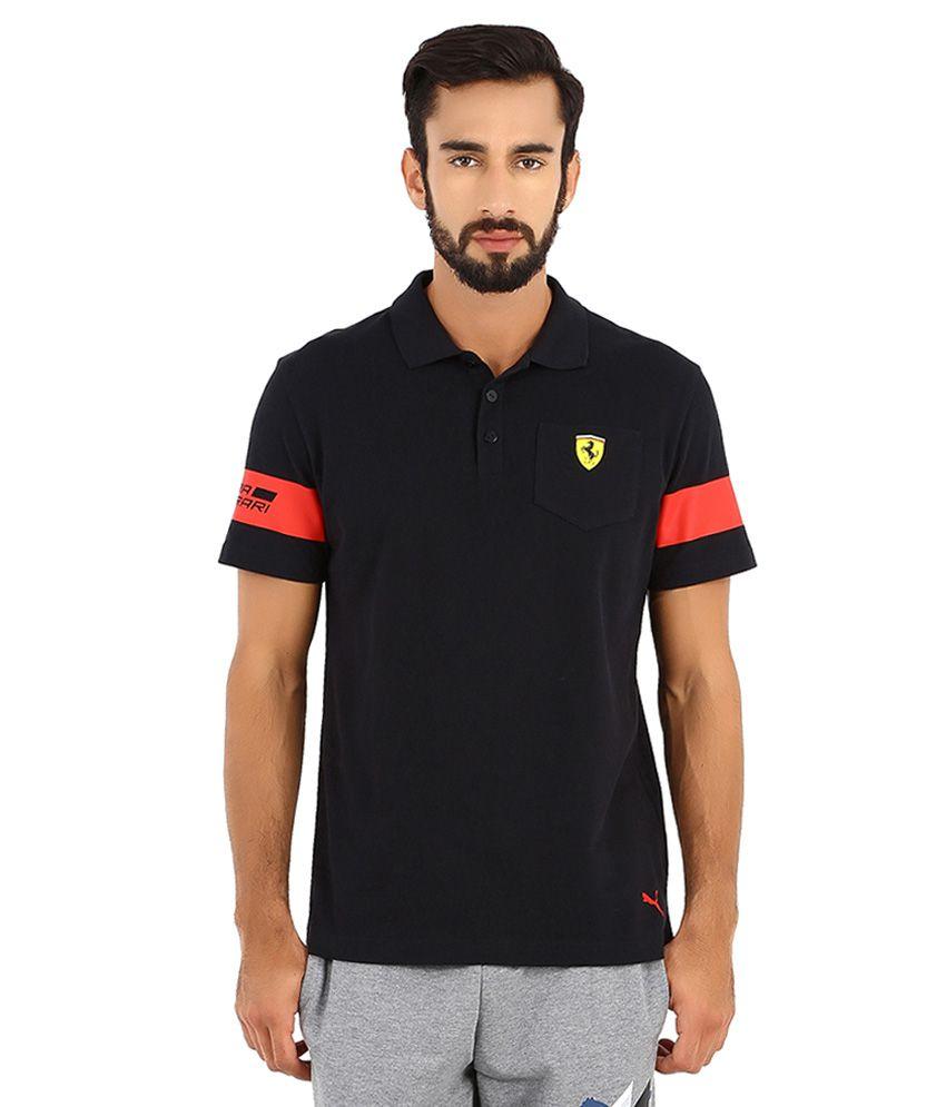 Puma Black SF Polo T Shirt