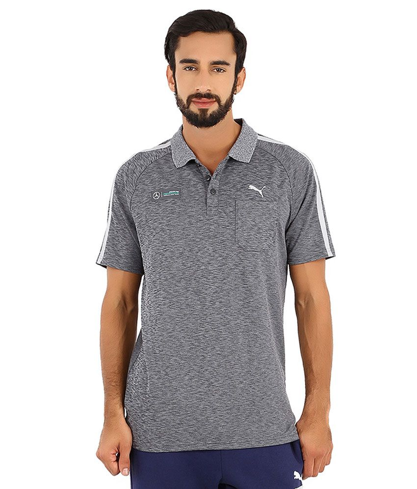 Puma Gray Mercedes Amg Petronas Polo T Shirt Buy Puma Gray