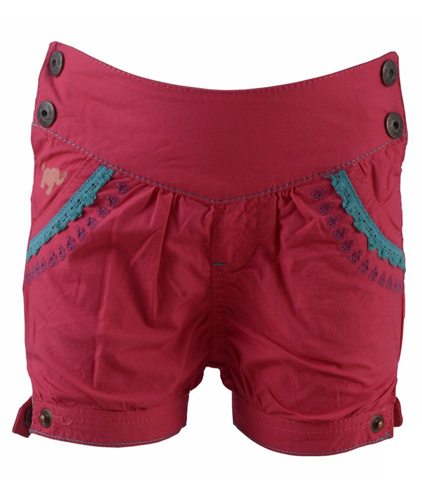 Early Smile Pink Cotton Shorts