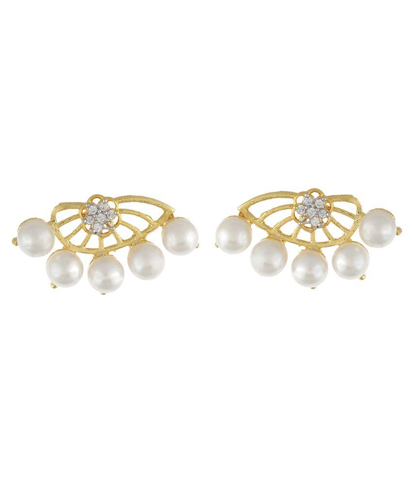 Brio Accessories Golden Chandelier Earrings