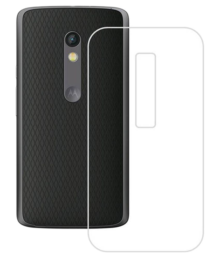 half off 11cbb 89bb1 Coverage Transparent Back Cover for Motorola Moto X Force