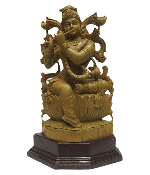 Indian Arts Museum Brown Lord Krishna Idol