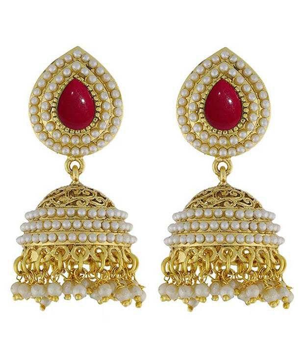 Youbella Golden Alloy Earrings