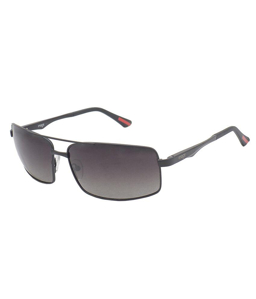 Image Gray Rectangle Sunglasses