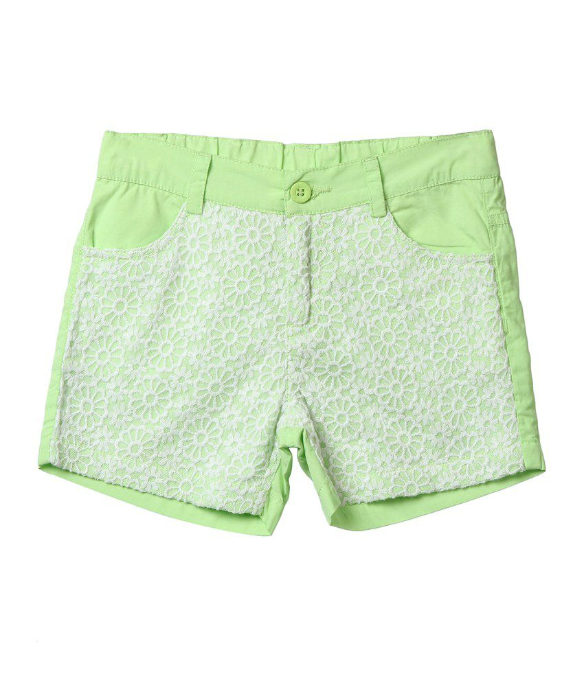 Beebay Green Cotton Short