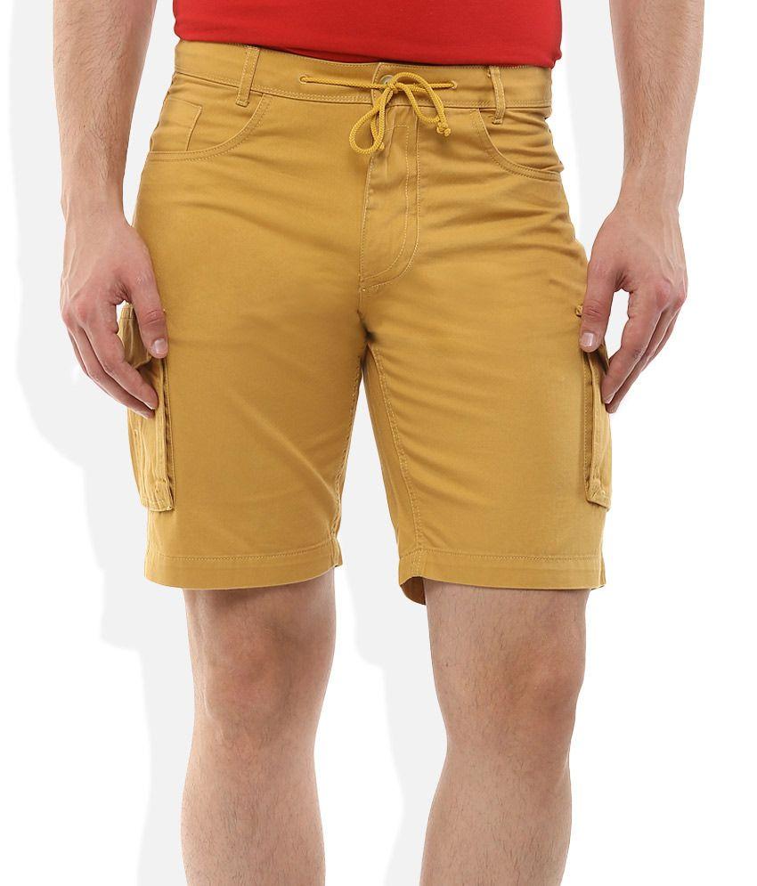 Color plus Khaki Solid Shorts