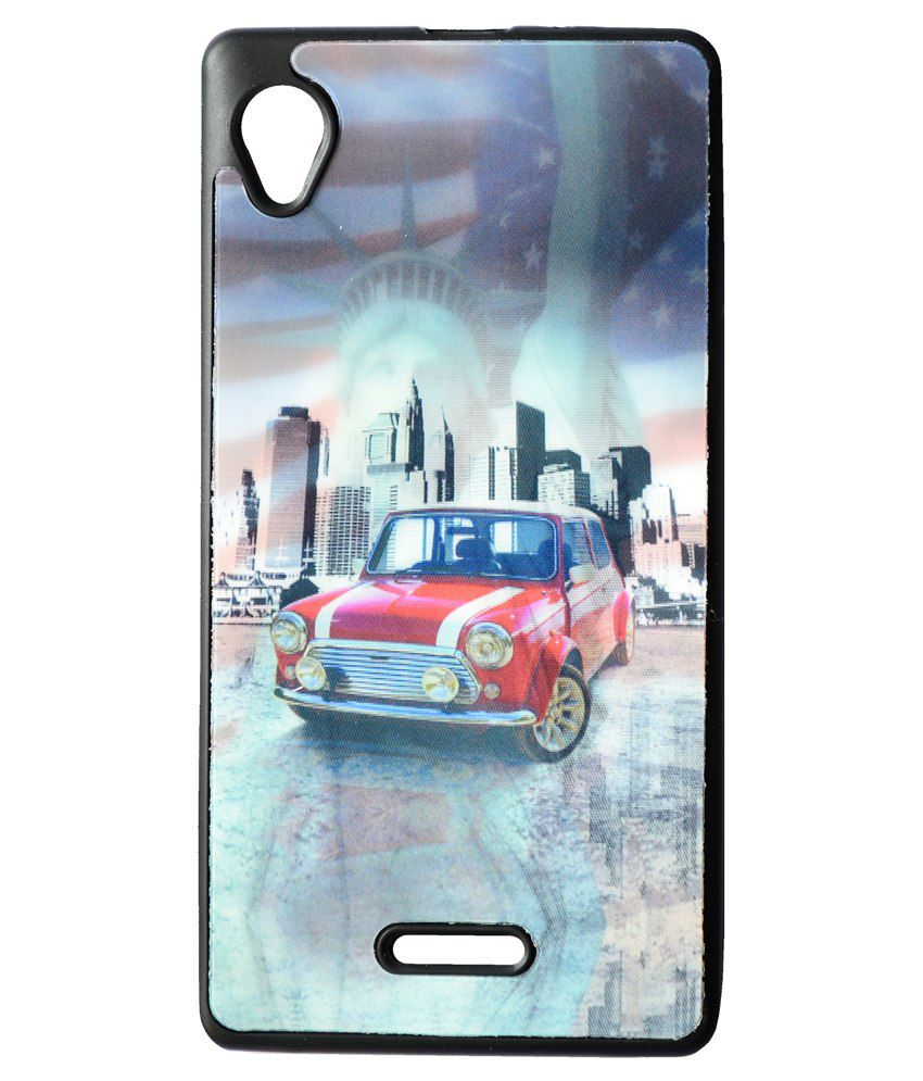 detailed look 54292 d7f07 Elomo Printed Back Cover for Intex Aqua Power HD - Multicolor ...