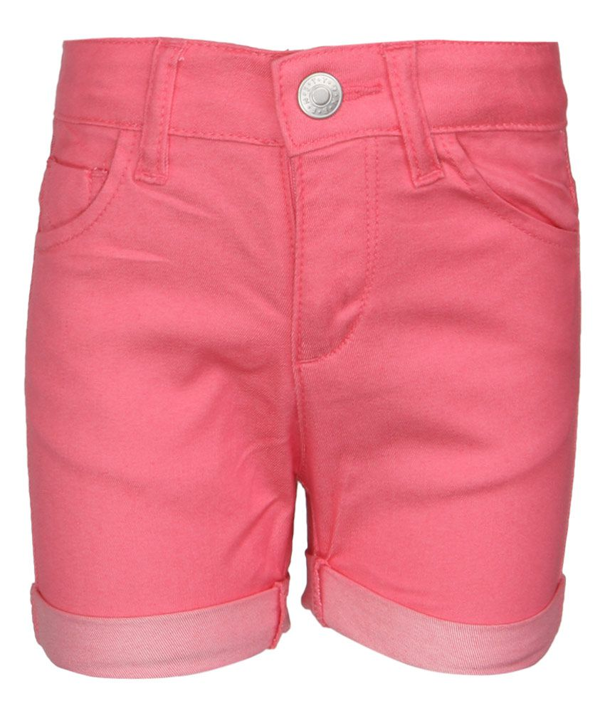 United Colors of Benetton Pink Solid Shorts