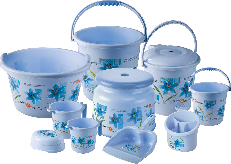 Plastic bathroom sets - Plastic Bathroom Sets Joyo Bathroom Set 10 Pcs Blue
