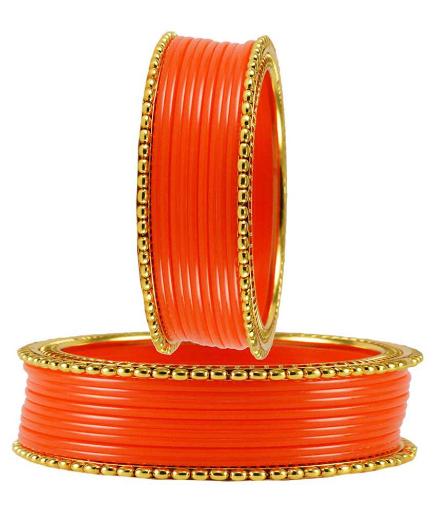Vidhya Kangan Orange Party Bangles