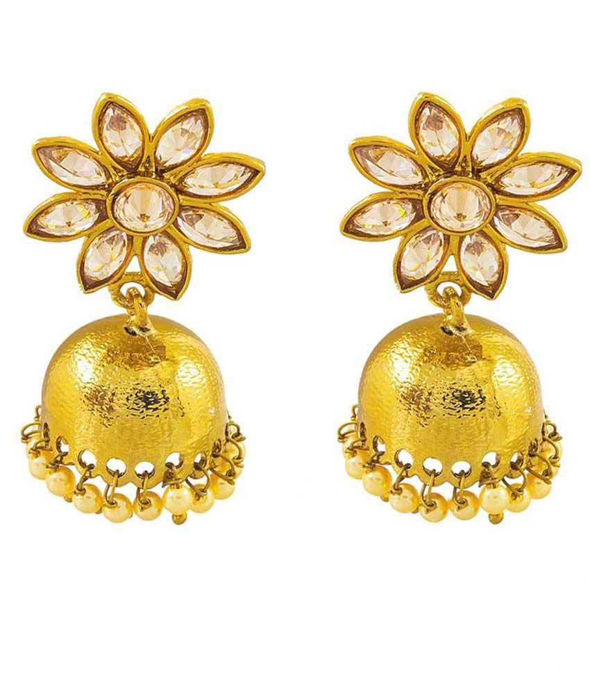 Art Nouveau Golden Brass Jhumkis
