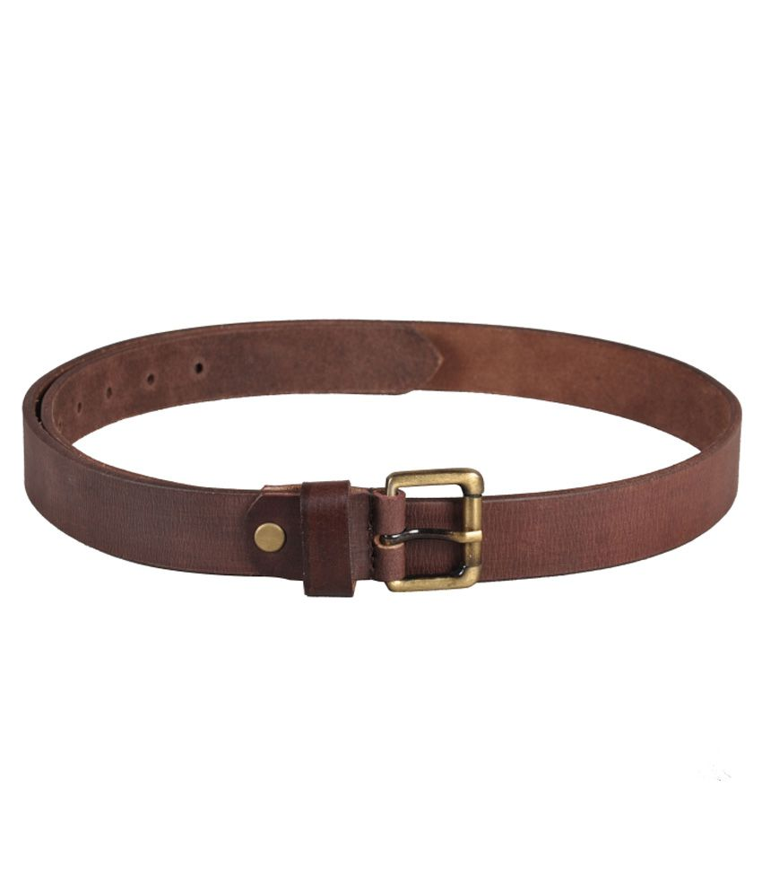 Ligans Ny Brown Single Casual Belt for Men