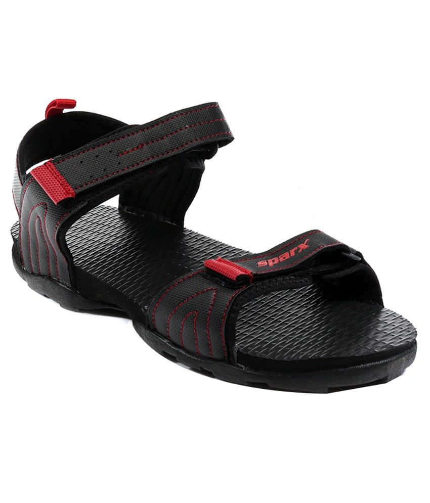 Sparx Black Floater Sandals