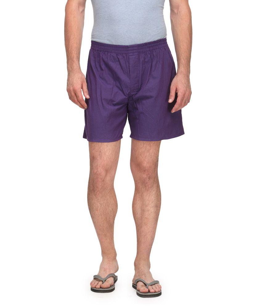 Wear Your Mind Purple Shorts