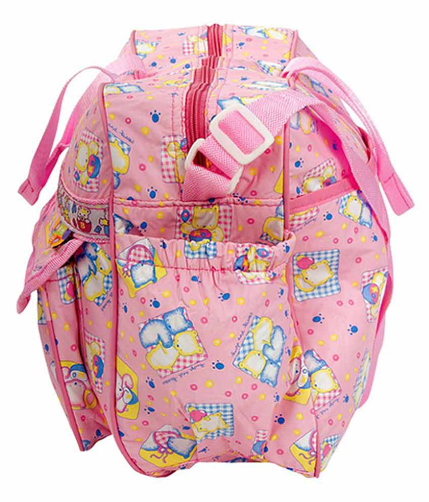 Mee Mee Multifunctional Diaper Bag_Pink
