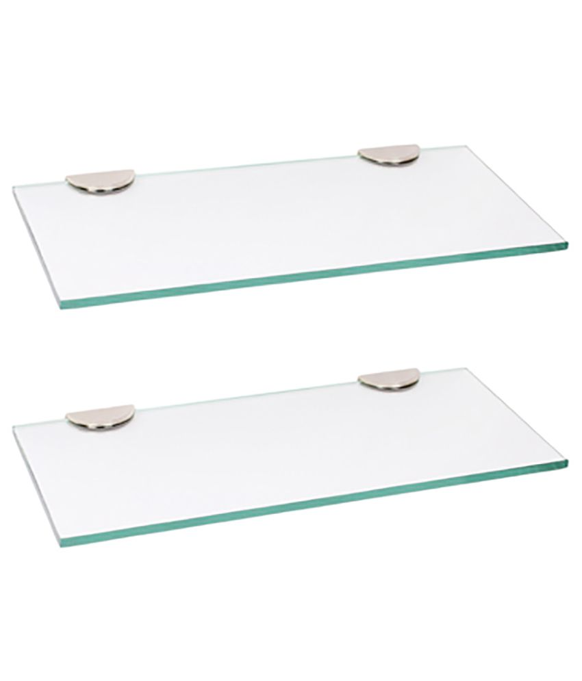 Buy Royal Indian Craft Multi Purpose 18 By 5 Inch Glass Shelf (Set ...