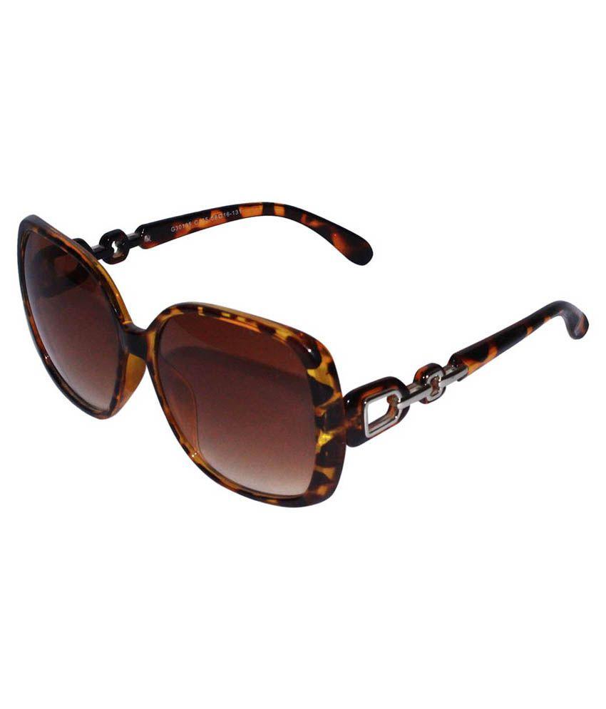 SPY+ Brown Aviator Sunglasses