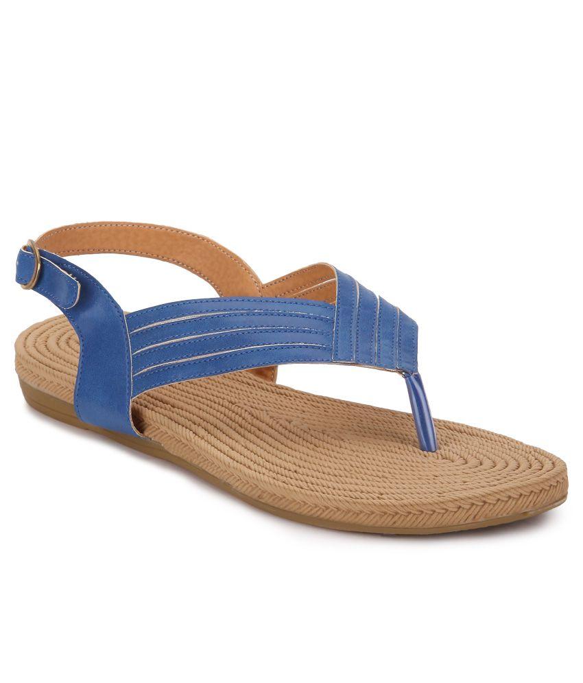 American Swan Helena Blue Sandals