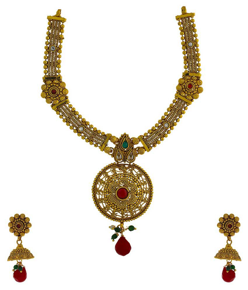 Anuradha Art Multicolor Alloy Necklace Set