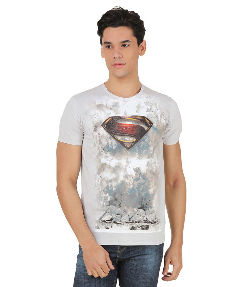 Superman Grey Printed T-Shirt