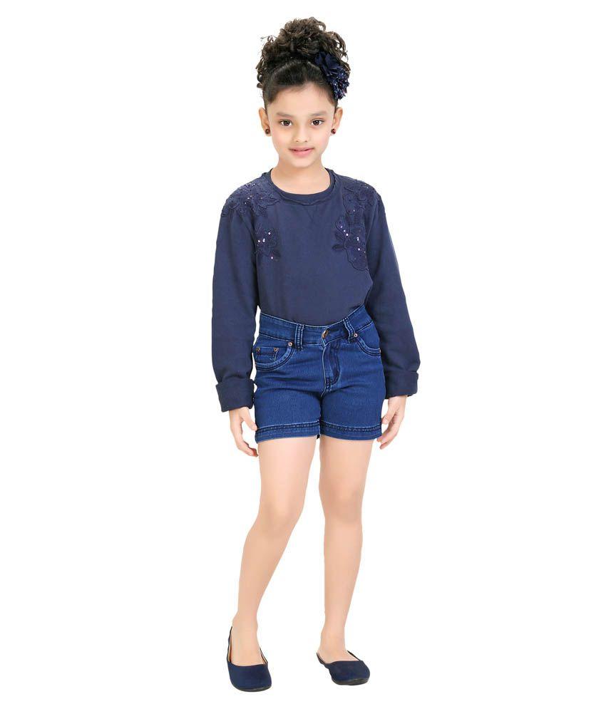 Clench Blue Denim Shorts