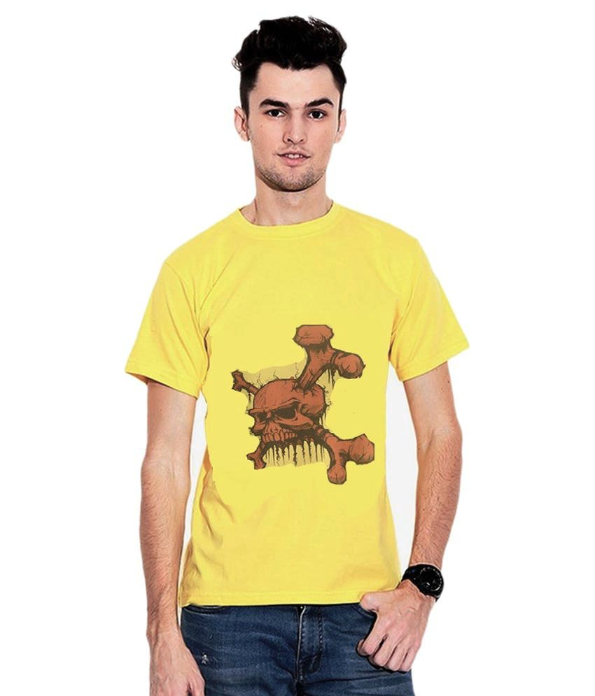 Iqu Traders Yellow Round T Shirts Single