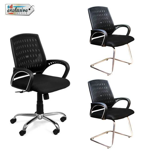 Office Chair Get 2 Visitor Chairs Free Online At Best Prices In India