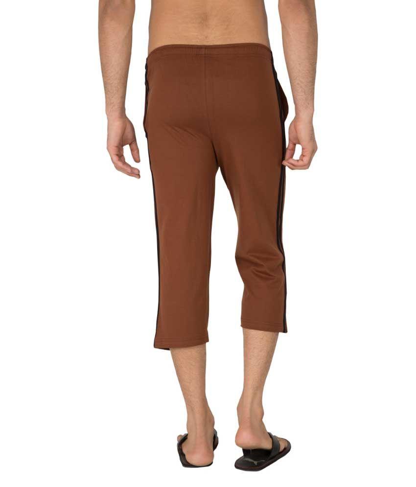Clifton Fitness Men's Capri- Brown