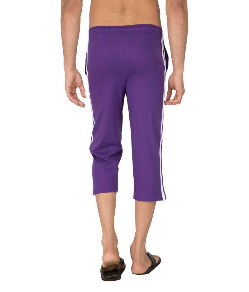Clifton Fitness Men's Capri- Purple
