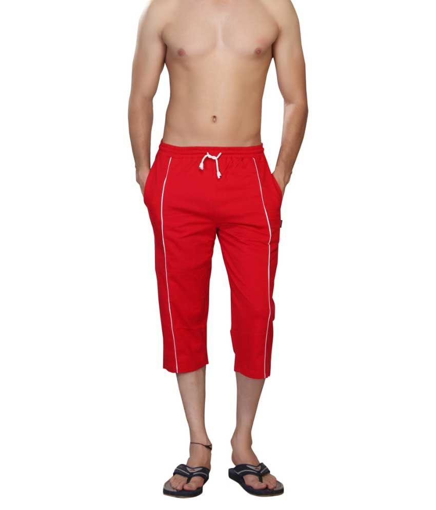 Clifton Fitness Men's Capri- Red