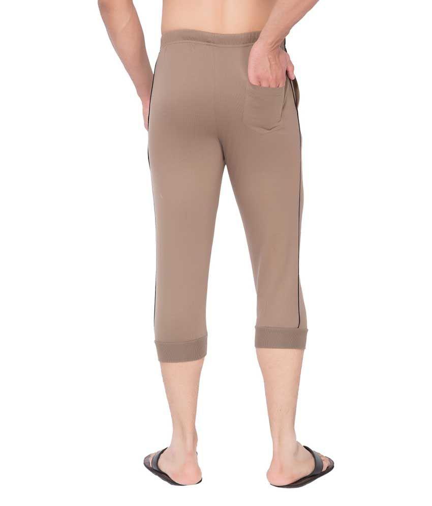 Clifton Fitness Men's Thin Stripe Comfort Capri- Walnut.Black