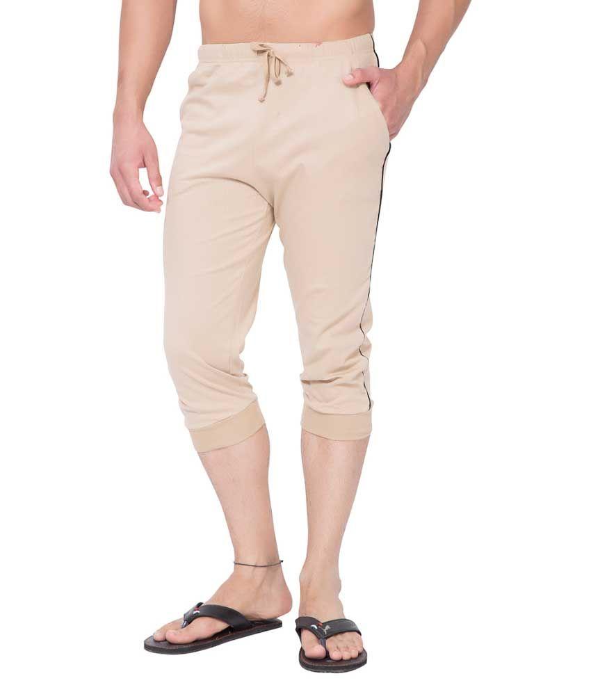 Clifton Fitness Men's Thin Stripe Comfort Capri- Saffari Black