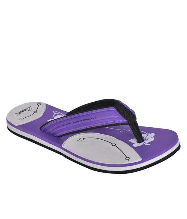 Domestiq Purple Slippers & Flip Flops