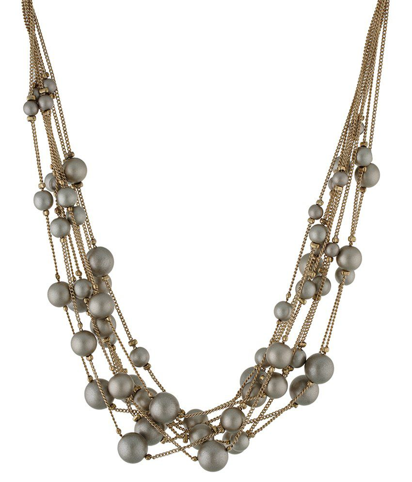 One Stop Fashion Golden & Grey Alloy Necklace