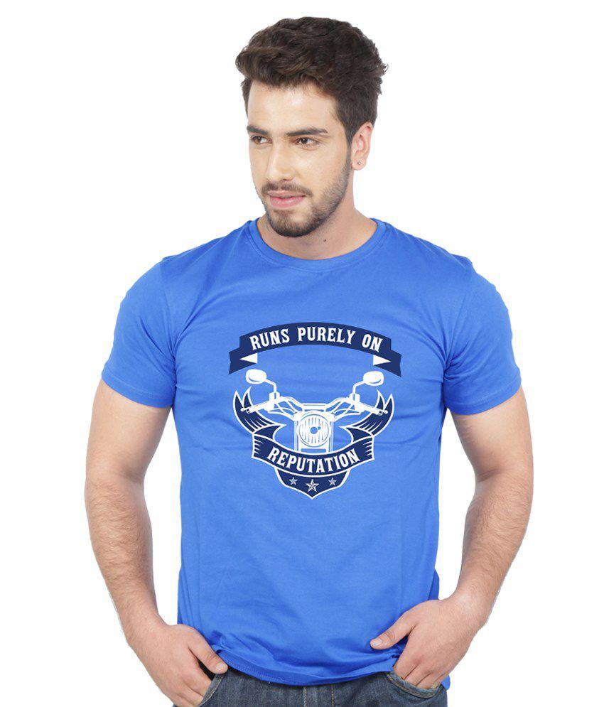 Beer Studio Blue Cotton T-shirt