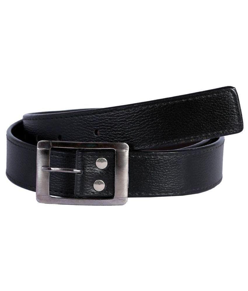 Exclusive Luks Black Casual Belt for Men
