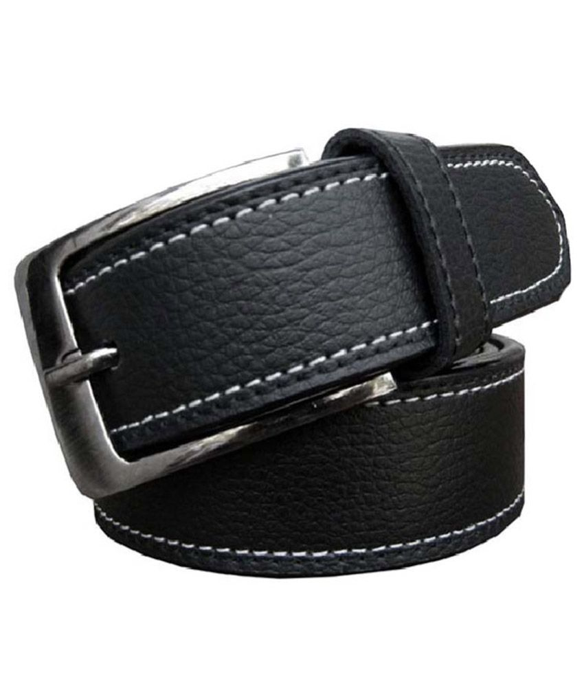 Exclusive Luks Black Casual Belt for Men