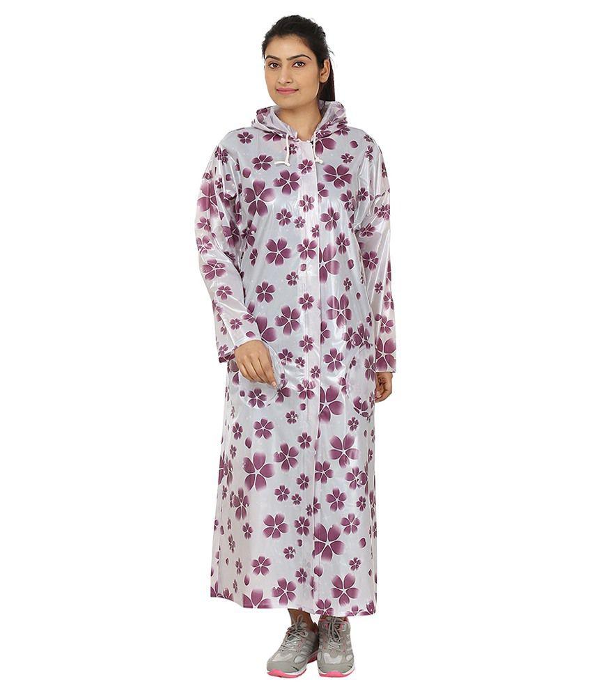Rainfun Floral Print Women's Raincoat